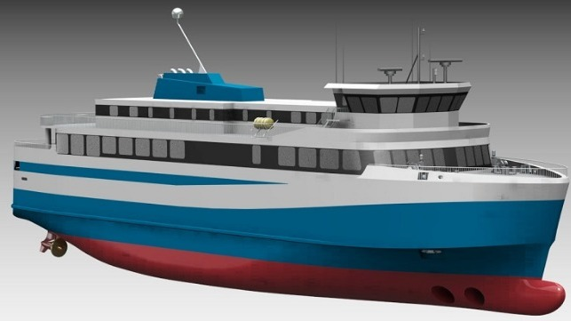 Iceland's first electric ferry. Image by Polarkonsult