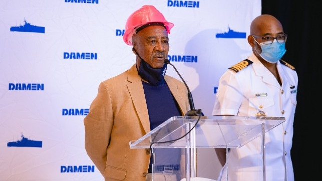 Welcome by Mr Sam Montsi, Director of Damen Shipyards Cape Town