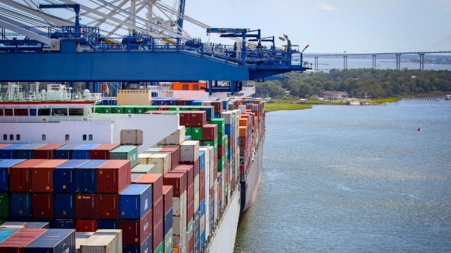 SC Ports efficiently works the big ships calling on the Port of Charleston. (Photo/SCPA/English Purcell)