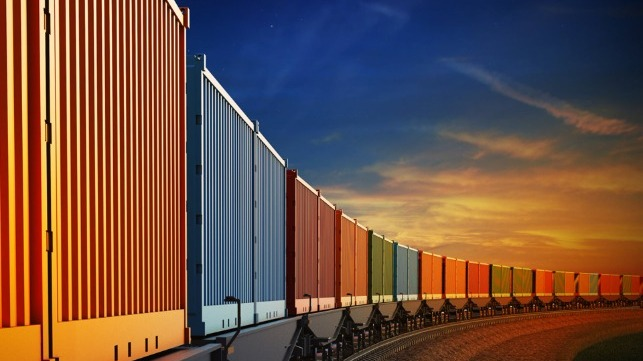 Freight moving between China and Europe