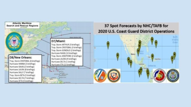2020 Impact-based Decision Support Services to U.S. Coast Guard Districts  by Tropical Analysis and Forecast Branch (TAFB)/National Hurricane Center (NHC)