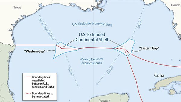 Us And Cuba Sign Continental Shelf Treaty - Map-of-us-and-cuba
