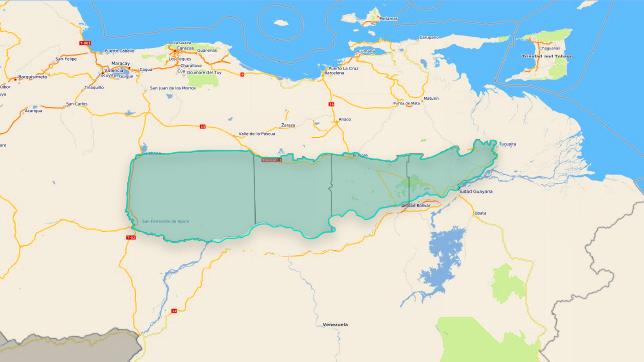 Orinoco River Location On World Map