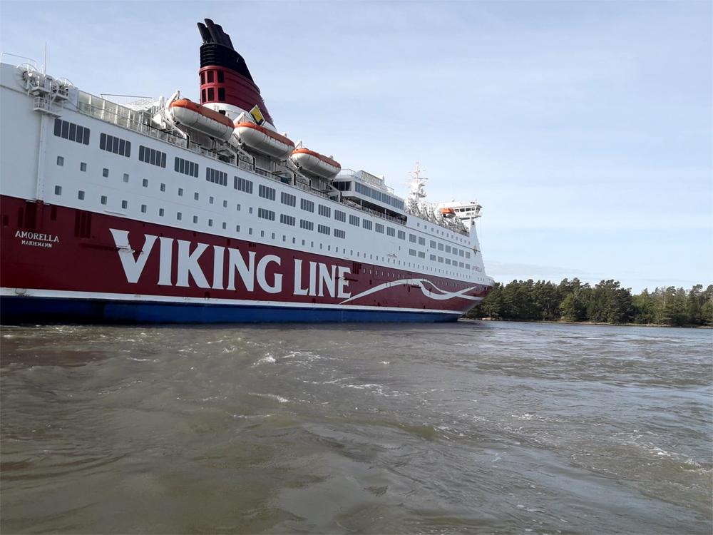Finnish Passenger Ferry Runs Aground In The Baltic