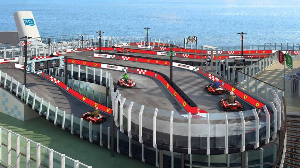 Norwegians Latest Cruise Ship Will Have A Race Track - Cruise ship locater