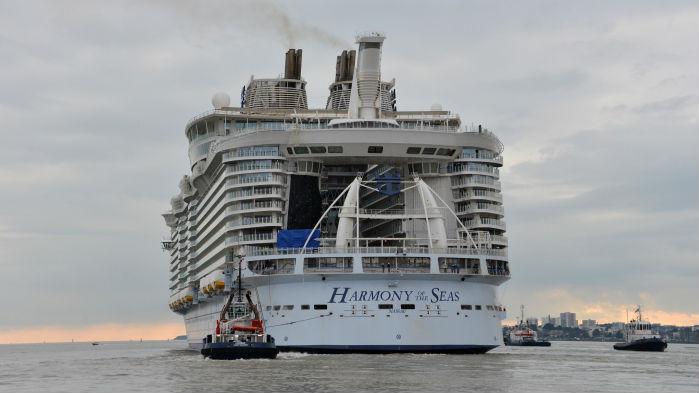 Harmony of the seas commences sea trials
