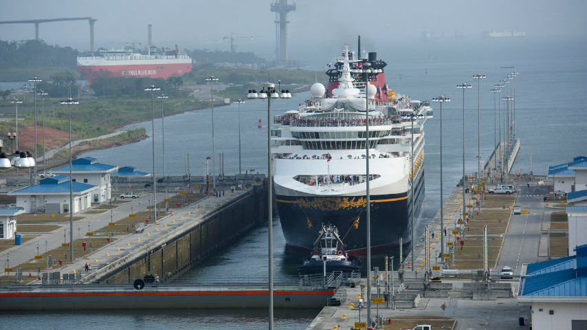 First Cruise Ship Enters Expanded Panama Canal - Panama cruise
