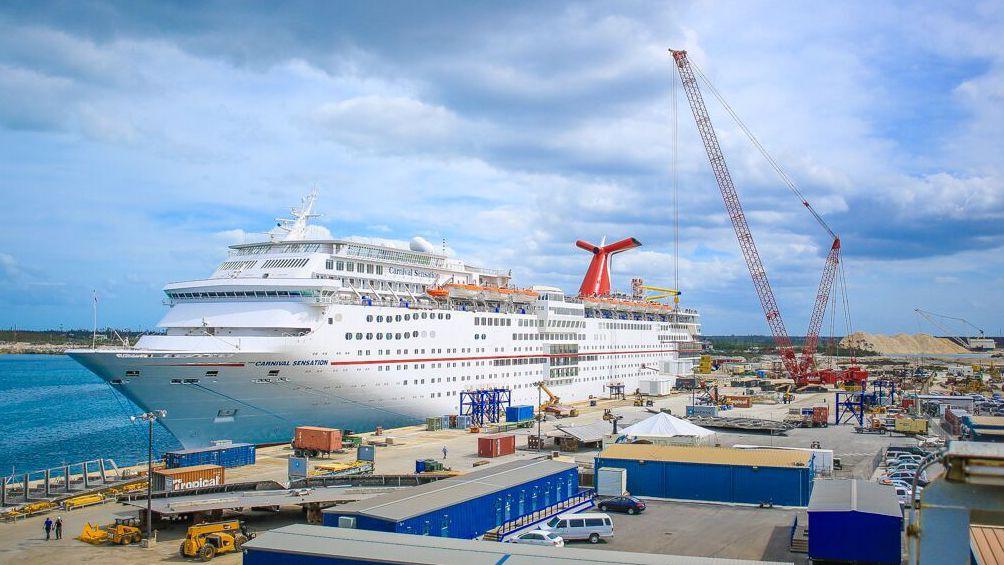 Grand Bahamas Shipyard Is Set To Dry Dock Cruise Ships In - Docked cruise ship