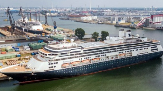 Fred. Olsen takes delivery on cruise ship from Carnival's Holland America