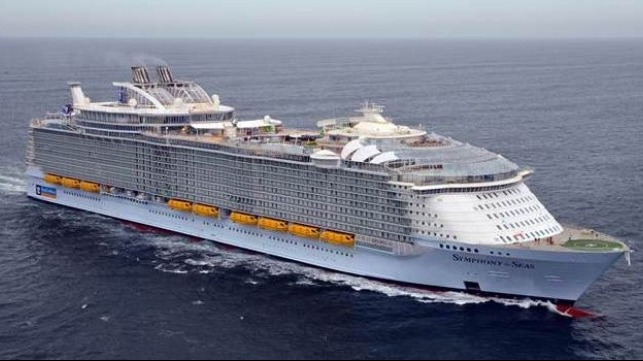 Watch Symphony Of The Seas Under Construction