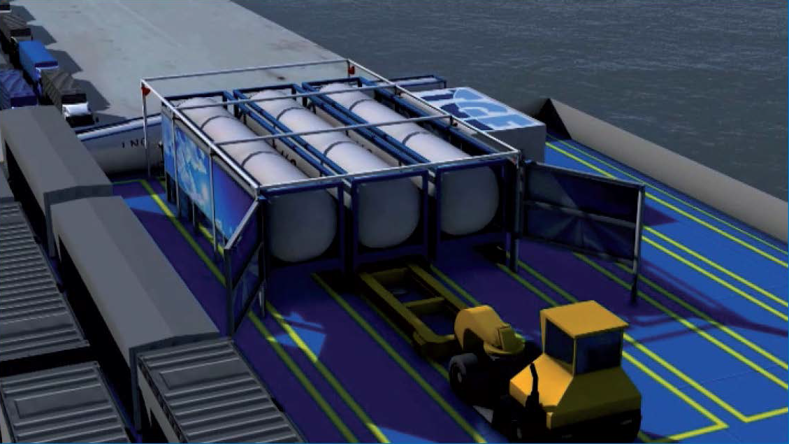 RO/RO Gets Novel LNG Bunkering Solution