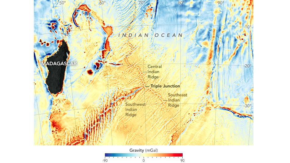 New Gravity-Field Map Made for Ocean Floor