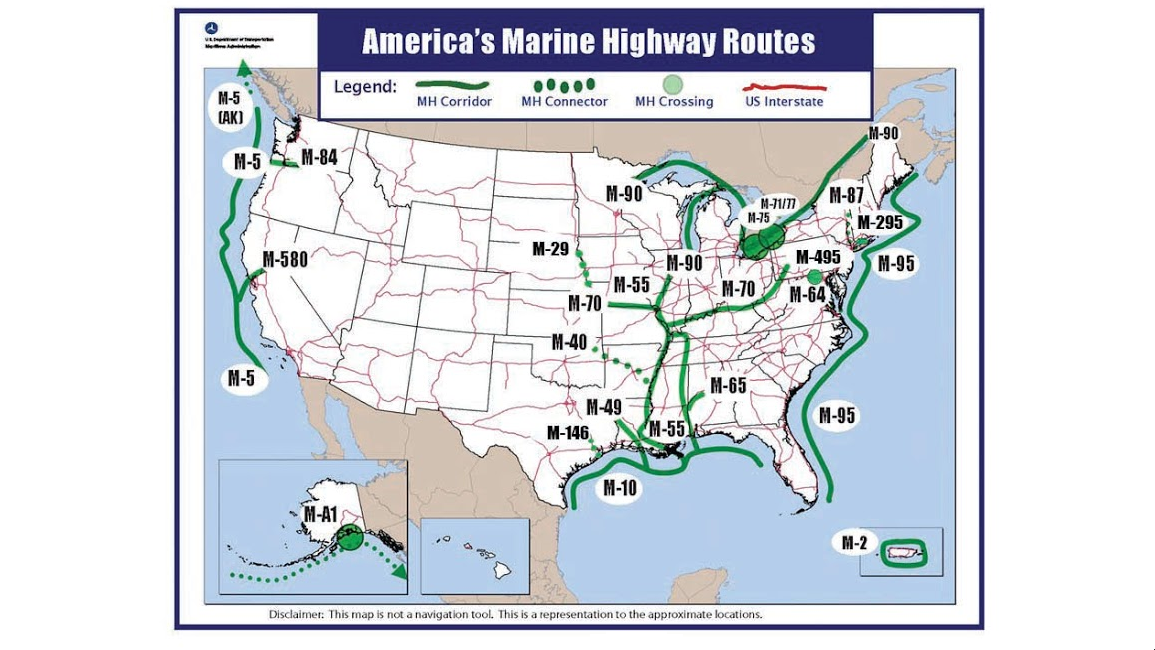 us marine high way map