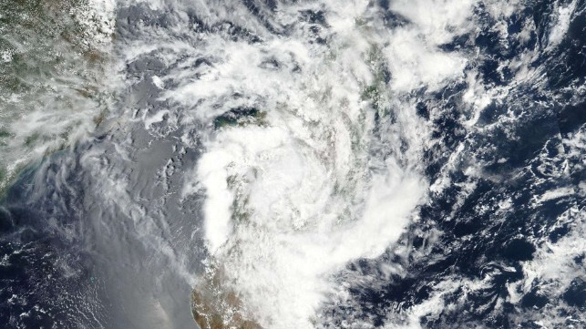 Tropical Cyclone Hits Mozambique Channel