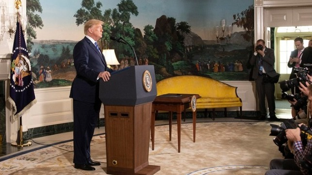 On May 8, 2018, President Donald Trump signed a Presidential Memorandum ordering the reinstatement of harsher sanctions against Iran.
