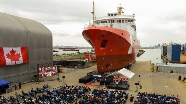 Canada S Second New Offshore Fisheries Science Vessel Launched