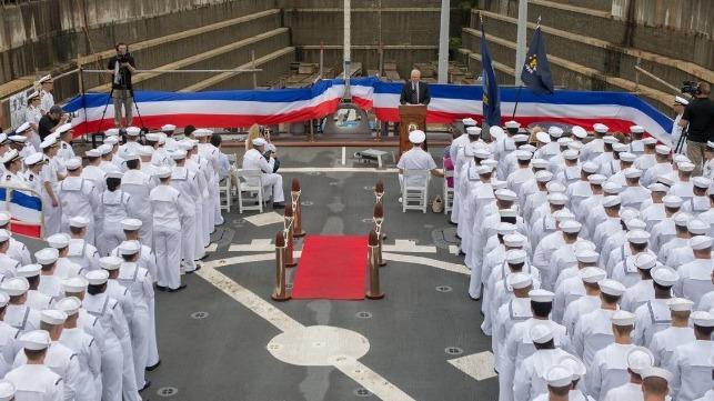 Senator McCain Joins Forefathers as USS McCain's Namesake