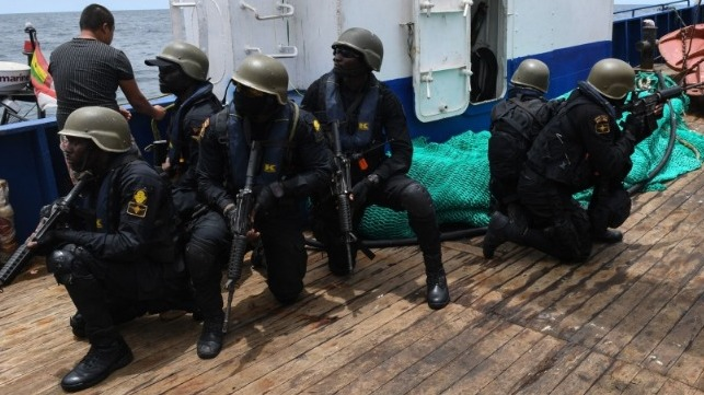ghana boat service navy boarding team piracy
