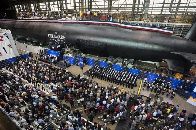 U S  Navy Christens Two Submarines