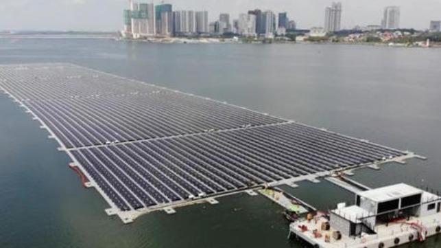 world's largest floating solar farm and energy storage in Indonesia