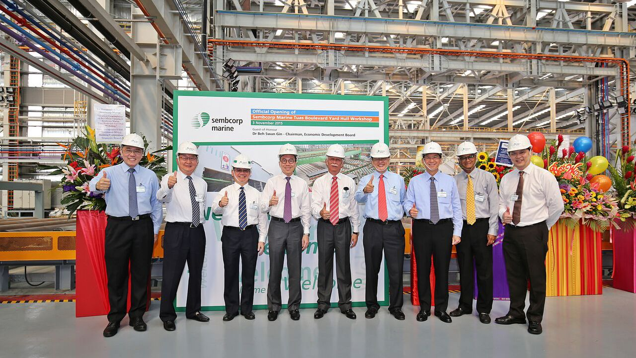 Sembcorp Marine Opens Steel Structure Fabrication Workshop