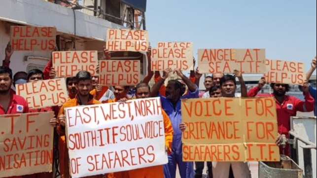 crew stages hunger strike to call attention to their plight