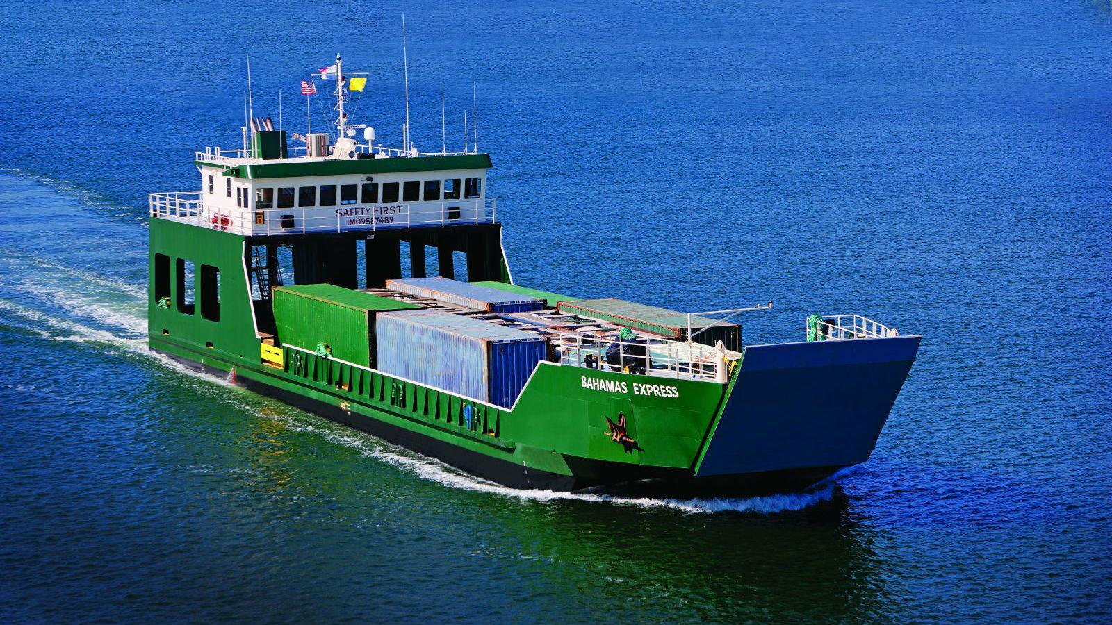 Maritime Len seacor providing hurricane relief in bahamas