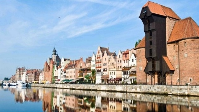 Gdansk in Poland is one of the ports in the Baltic Sea.