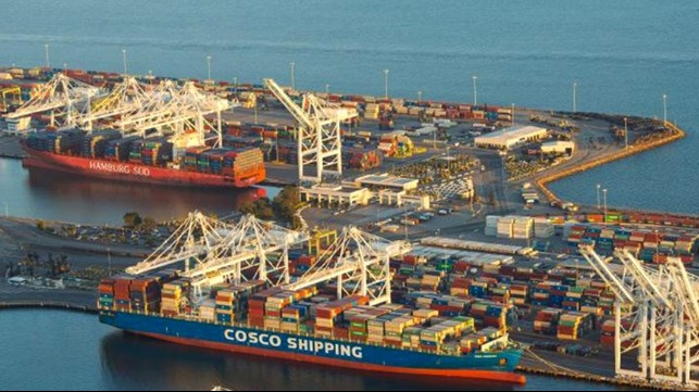 Record vessel backlog at Southern California ports