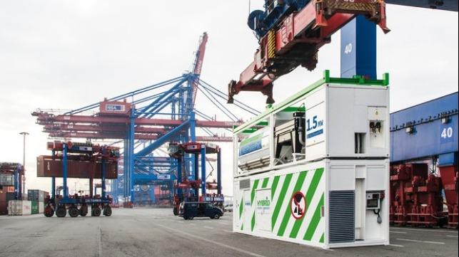 Hamburg Tests Mobile Shore Power System