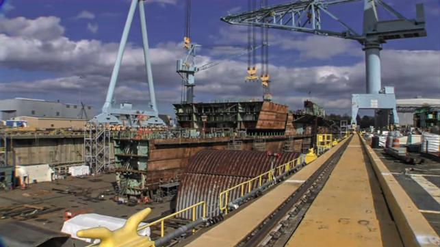John Kennedy Ford >> HHI Reports Progress on USS Kennedy