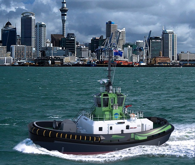Ports of Auckland Buys World-First Electric Tug