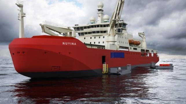 Photos: Hull of Australian Icebreaker Under Construction
