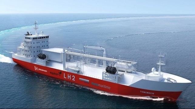 Liquefied Hydrogen Bunker Vessel Designed