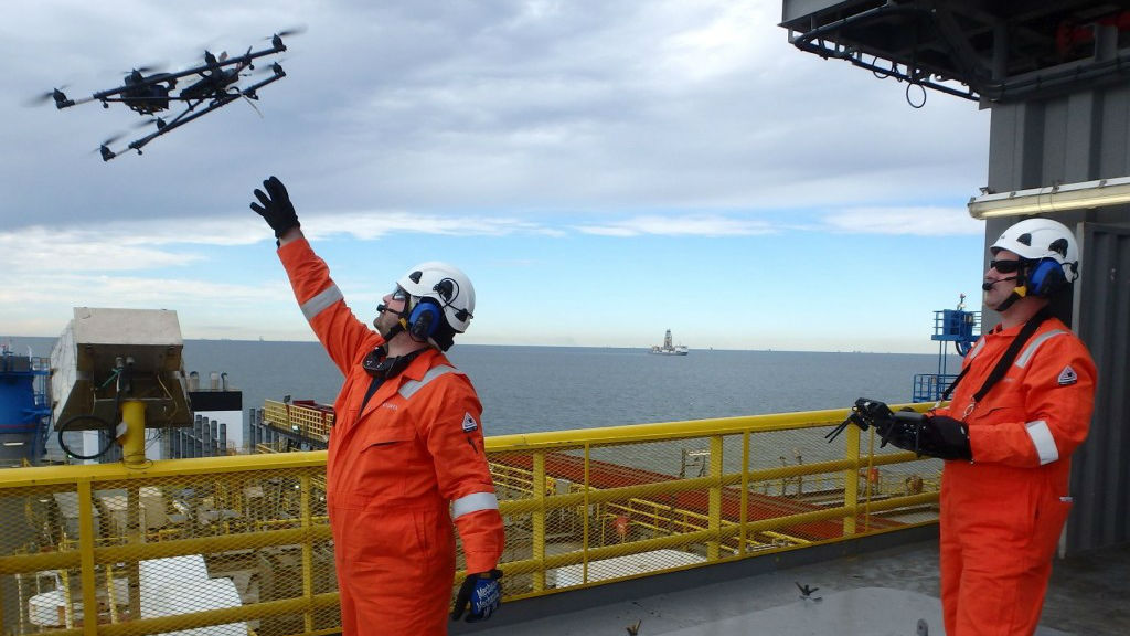 First Drone Inspection In Gulf Of Mexico