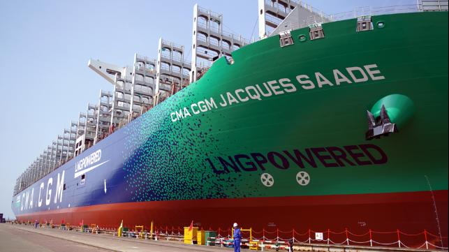 Mise en service du plus grand porte-conteneurs alimenté au GNL au monde | Gaz Naturel Liquéfié