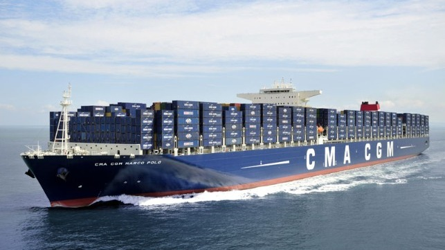 largest boxship arriving on East Coast