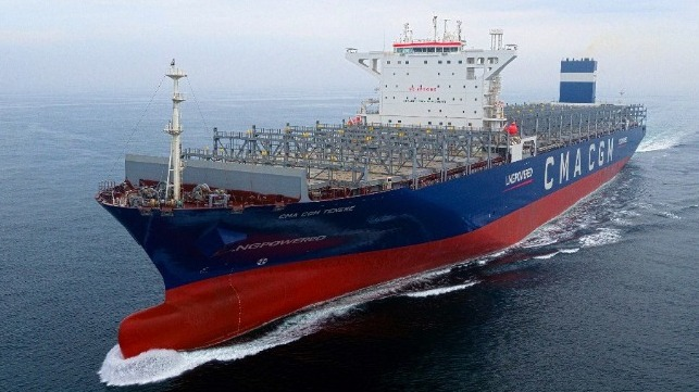 Hyundai's first lng-powered container ship