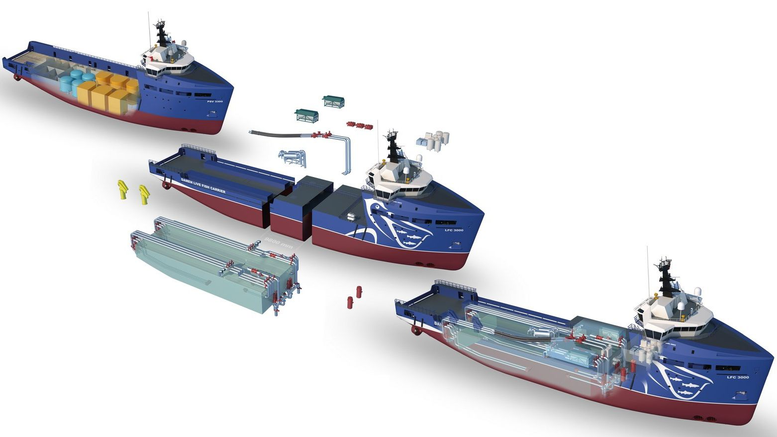 Damen Turn Osvs Into Fcvs Fish Carrying Vessels