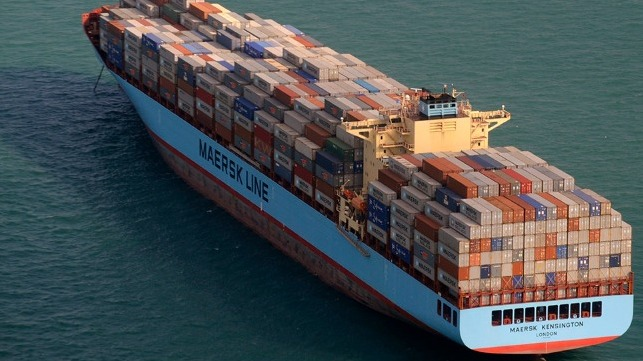 Fire Contained on U S -Flagged Maersk Boxship