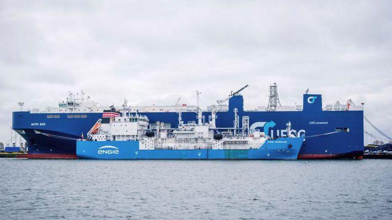 First ever lng bunker ship enters service in zeebrugge for Port zeebrugge