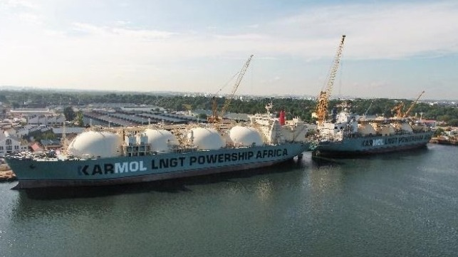 LNG-fueled FSRU to provide power in Africa