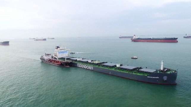 biofuel trial in Singapore BHP Olendorff
