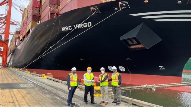 largest containership to dock at Port Newark