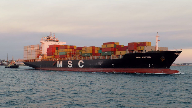 MSC astrid container ship