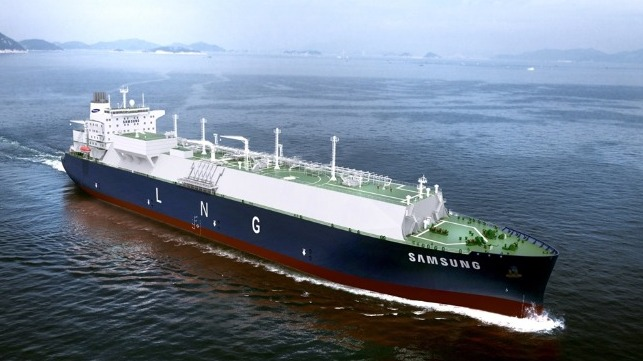Samsung working with Bloom Energy will develop designs for a fuel cell-powered LNG Carrier