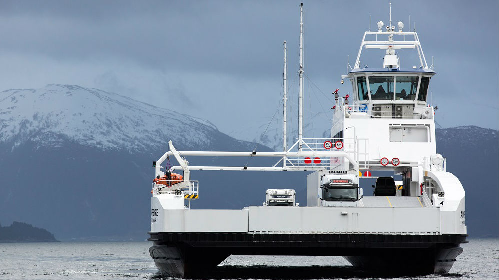 World's First Electrical Car Ferry in Operation