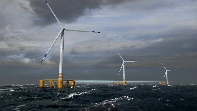 movable floating wind turbines