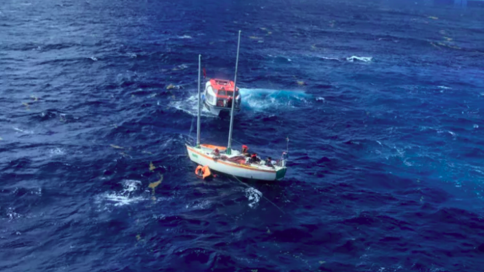 Video Cruise Ship Rescues Six From Drifting Yacht - Cruise ship rescue