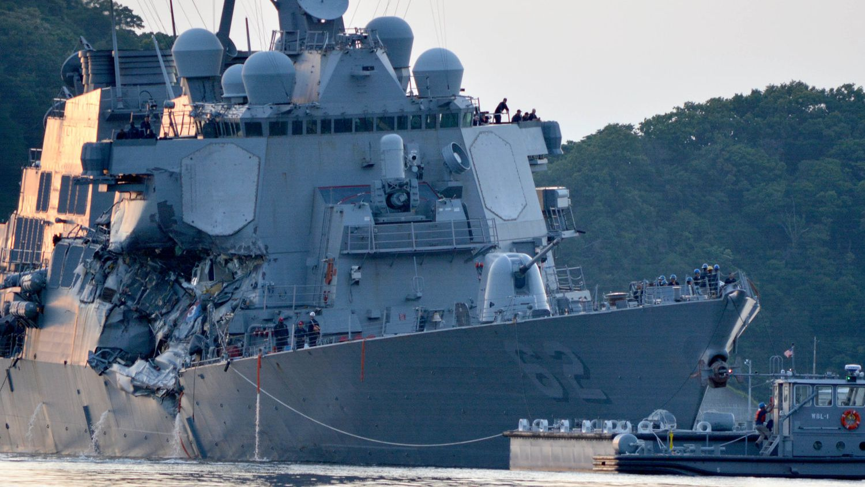 Загадки столкновения эсминца «Fitzgerald»: американские моряки проспали